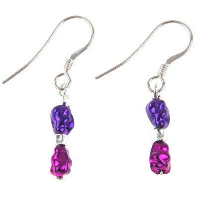 Mini Foils Earrings (Berry)