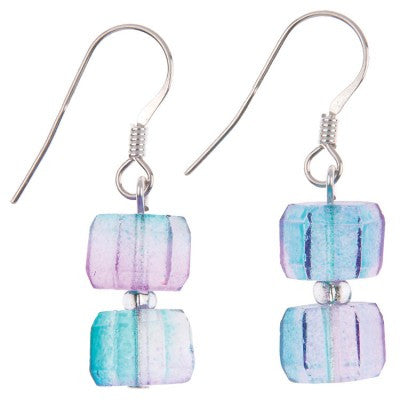 Geo Gems Earrings (Blueberry)
