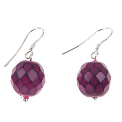 Serpentine Earrings (Fuchsia)