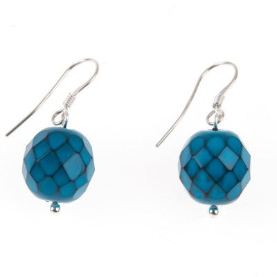Serpentine Earrings (Teal)