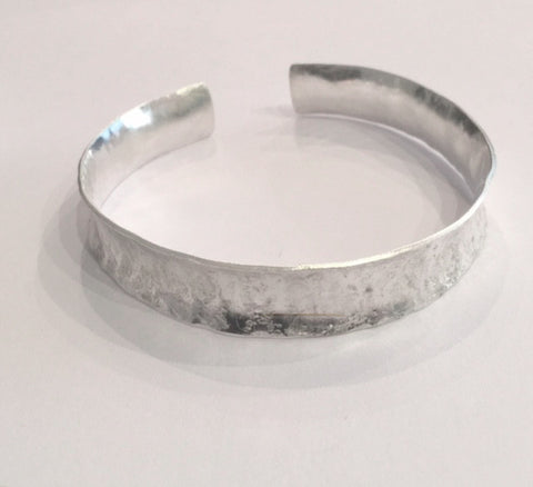 Brushed Silver Cuff Bangle (medium)