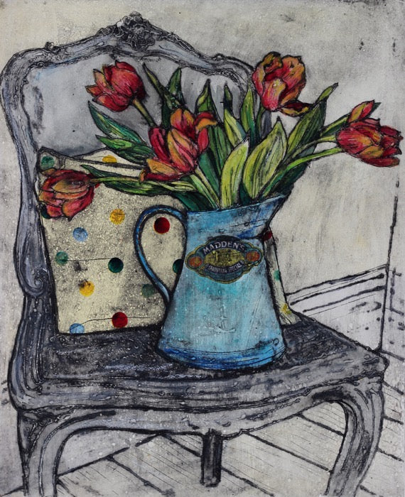 Jug of Tulips 18/20