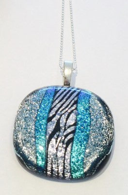 Turquoise Blue Glass Pendant