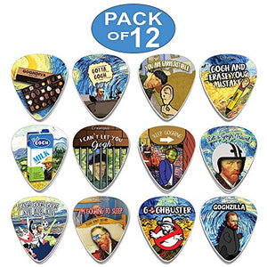 Creanoso Obsessed with Van Gogh Guitar Picks (12-Pack) - Best Gifts for Guitarist, Musicians
