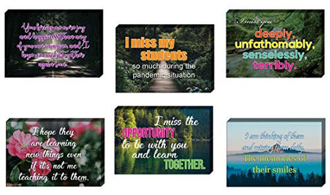 Teacher Miss Students Postcards (60-Pack)