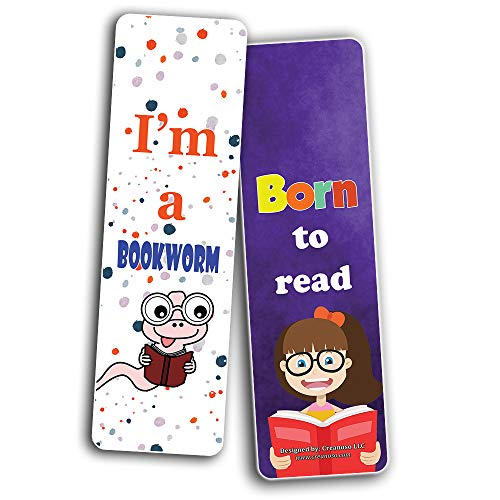 Creanoso Amazing Bookmarks for Reading for Students (30-Pack) – Stocking Stuffers Gift for Boys, Girls, Men, Women, Teens – Awesome Bookmark Collection – Book Reading Rewards Incentives
