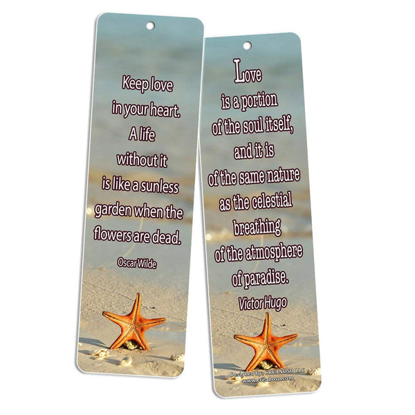 Creanoso Inspirational Bookmarks (60-Pack) - Life Changing Quotes Bookmarker Set