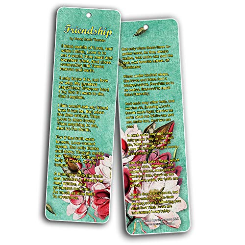 Famous Classical Short Poems Bookmarks Series 2 - Friendship (30-Pack)