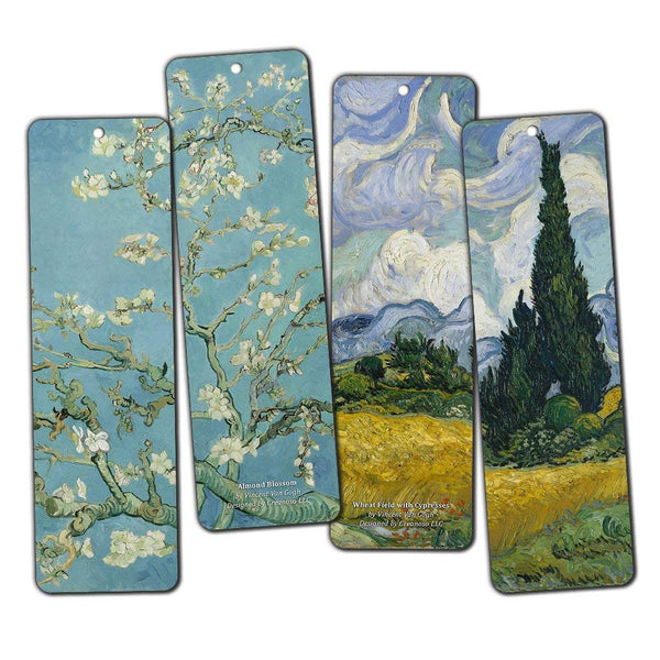 Creanoso Van Gogh Bookmarks (36-Pack) – Cool Book Classical Painting Art Print Decal