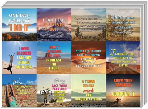10-Sheet Wall Decal Decor Art Bulk Pack Creanoso Happiness Life Quotes Positive Stickers Unique Professor Gifts Premium Gift Set Stickers for Adult Men /& Women Teens