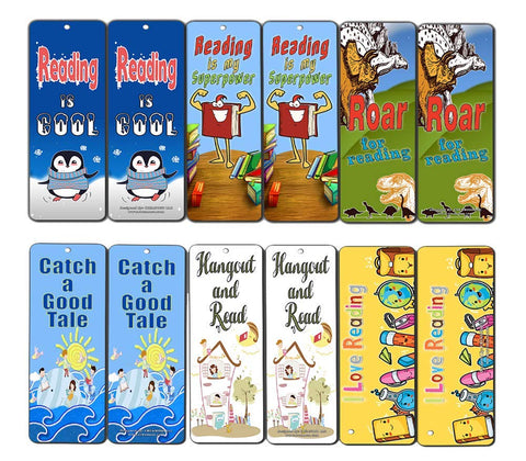 Creanoso Reading Bookmarks Cards (60-Pack)- Excellent Reading Rewards Incentives for Young Readers