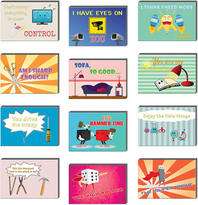 Creanoso Things Comedic Postcards (60-Pack) – Assorted Card Stock Bulk Set – Premium Quality Greeting Cards Stock – Funny and Cool Gift Tokens for Men Women Adults Employees