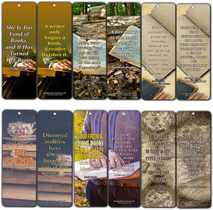Creanoso Avid Reading Classic Quotes Bookmarker Cards (60-Pack) – Premium Quality Book Reading Bookmarks Design – Premium Gift for Men Women Adult, Bookworm – Awesome Bookmarks