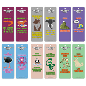 Creanoso Animals Learning Series 1 Bookmarks (30-Pack) – Interesting Animal Facts for Kids, Teens