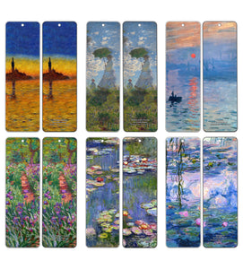 Claude Monet Bookmarks (60-Pack) - Famous Paintings - Bookmarks for Books Men Women Kids Teens