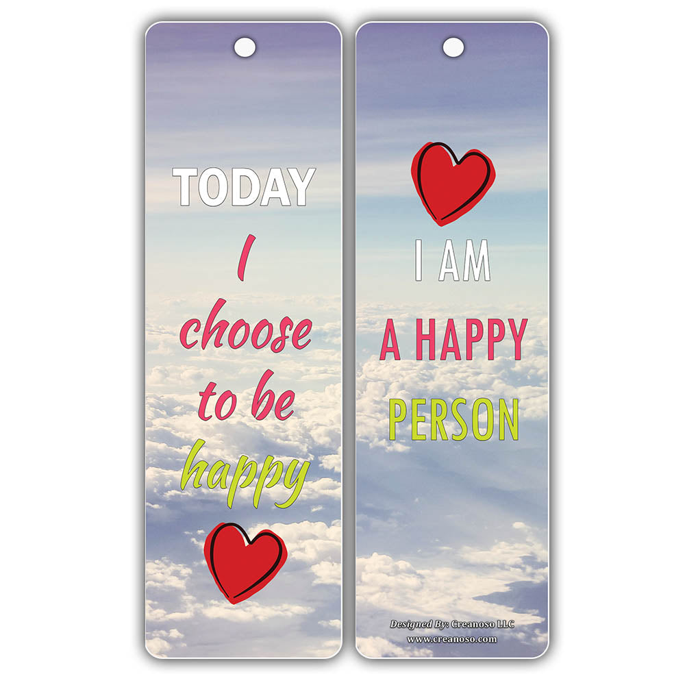 Creanoso Happiness Life Quotes Positive Sayings Bookmark Cards Premi