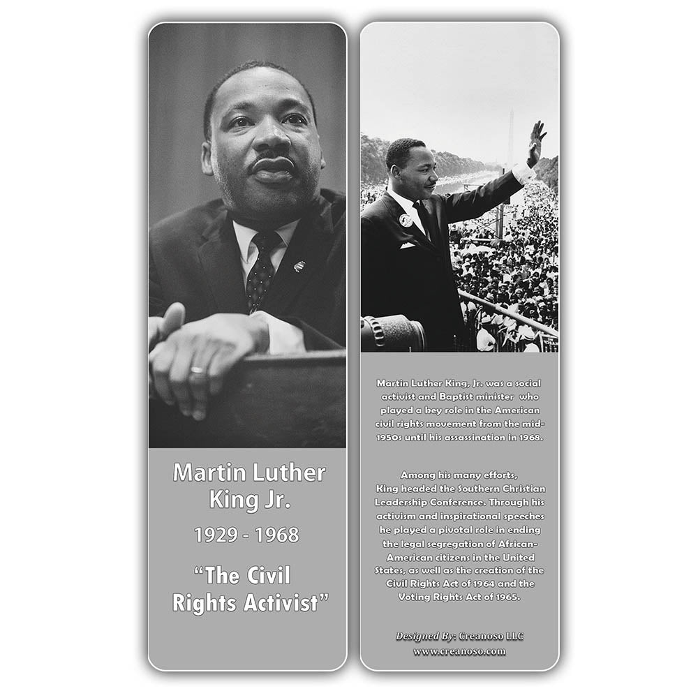 Creanoso Famous Historical African Americans Bookmarks Learning Rewa