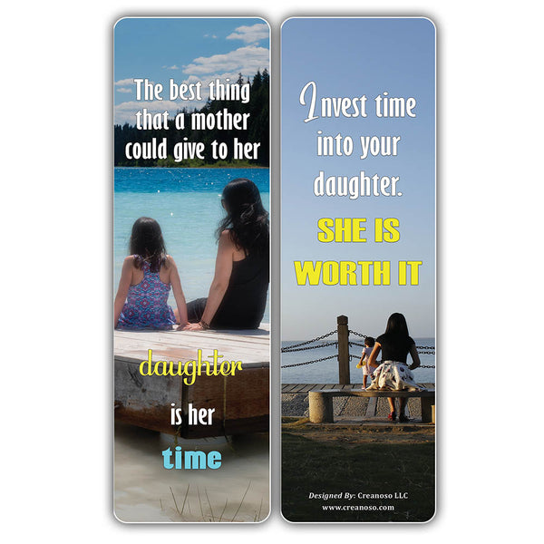 Creanoso Inspiring Sayings Mother and Daughter Quotes Bookmarks (60-Pack) – Premium Gift Bookmarks Gift Ideas for Mother and Daughter – Unique Mother Gifts