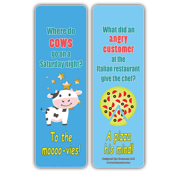 Creanoso Hilariously Silly and Funny Jokes Series 3 (60-Pack) – Six Assorted Quality Bookmarks Bulk Set – Teacher Incentive and Classroom Rewards Gifts – Unique Party Favors – Great Collection Pack