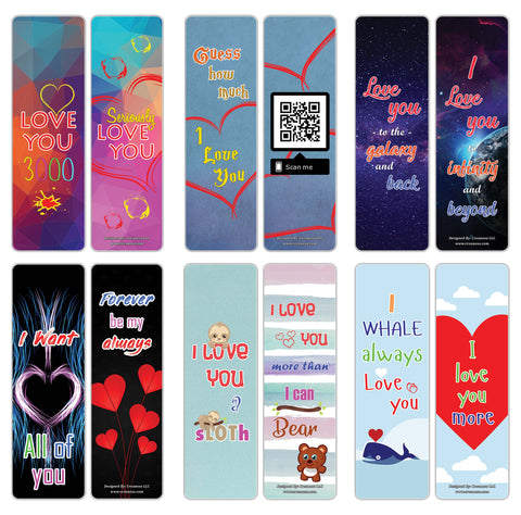Creanoso Love You 3000 Bookmarks - Romantic Book Clipper Reading Gifts for Dads Wife Dads Daughter