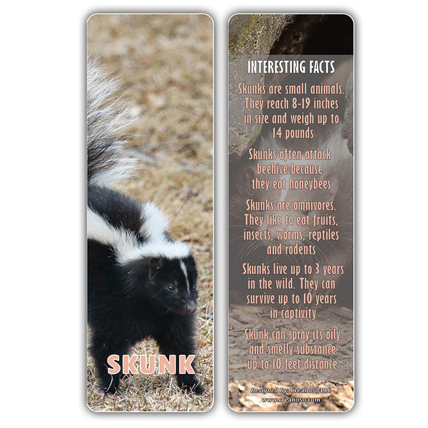 Creanoso Exotic Pet Animals Bookmarks – Premium Stocking Stuffers Gifts for Bookworms