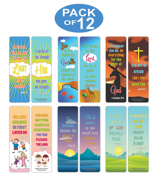 Creanoso Christian Sayings Bible Verses Bookmarks - Awesome and Inspiring Religious Sayings Book Clippers