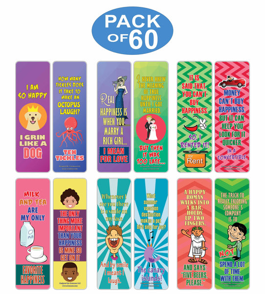 Creanoso Funny One Liners Jokes Happiness Bookmarks Series 2 – Unique Stocking Stuffers Gifts for Bookworms