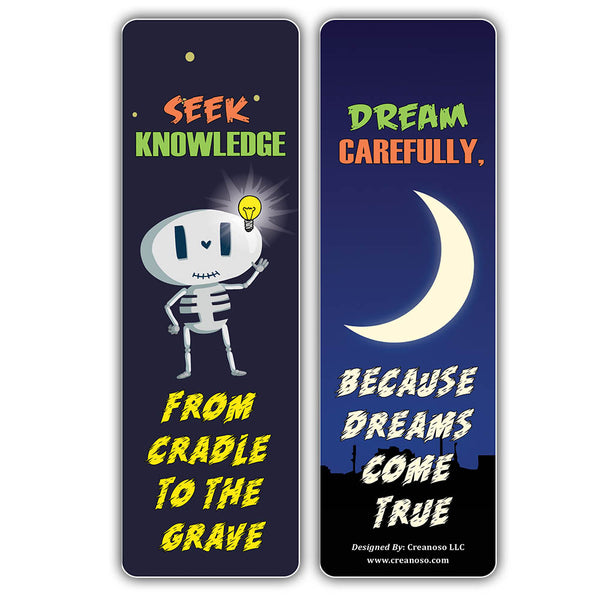 Creanoso  One Liners Jokes Motivational Bookmarks Series 2 - Cool Gift Token Giveaways for Bookworms