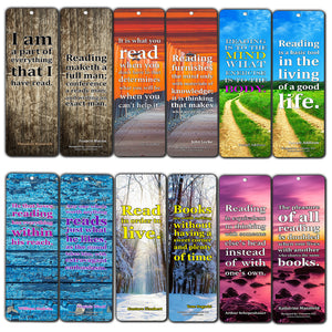 Creanoso Reading Quotes Bookmarker Cards (60-Pack) – Premium Quality Avid Readers Bookmarks Design – Premium Gift for Men Women Adult, Bookworm, Bibliophiles – Awesome Bookmarks