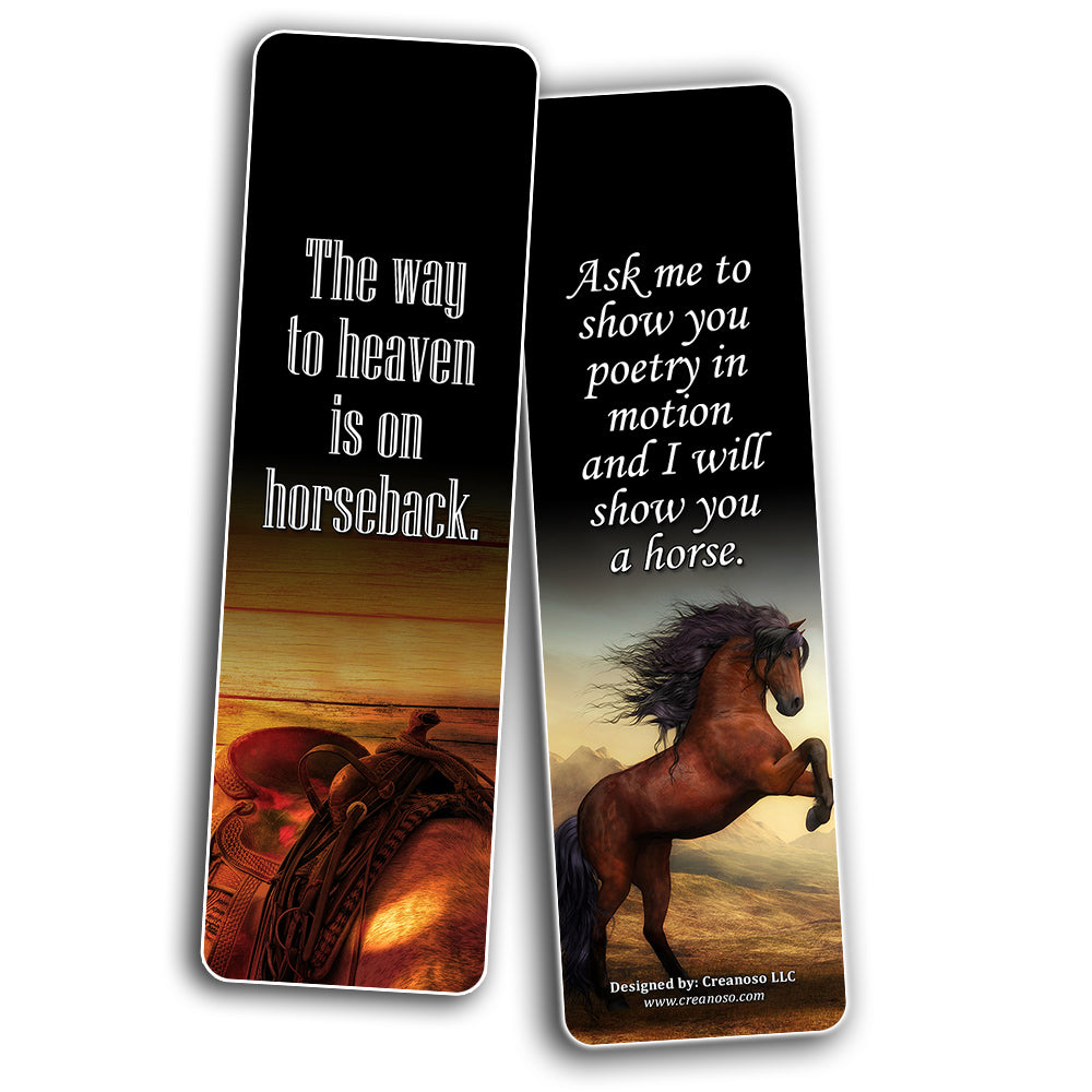 Creanoso Inspirational Horse Quotes Sayings Bookmarks Series 2 Premi