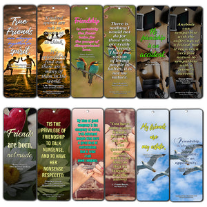 Creanoso Literary Quotes Bookmarks  Friendship Sayings  Jane Austen Emily Dickison L.M. Montgomery Quotes about Friends  Stocking Stuffers