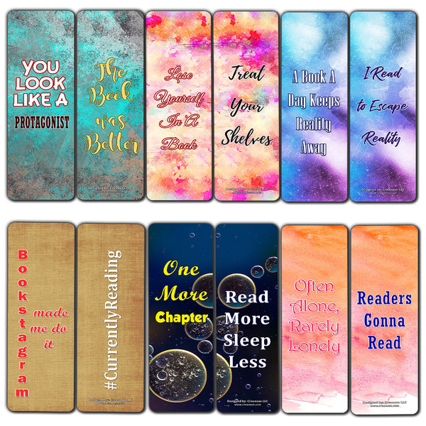Creanoso Modern Bookmarks Cards (30-Pack) – Stocking Stuffers Gift for Men & Women, Teens - Party Favors Supplies – Rewards Gifts – Awesome Bookmark Collection for Readers – Bookmarks Bulk Pack