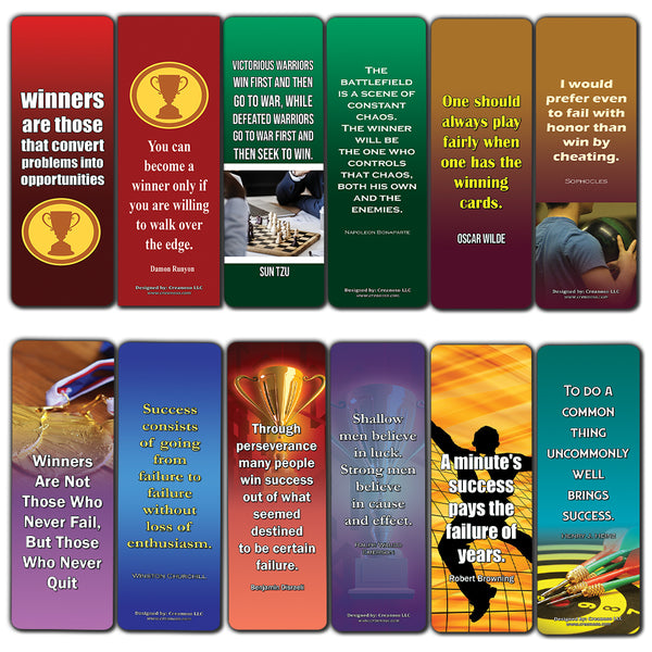 Winner Quotes Bookmarks