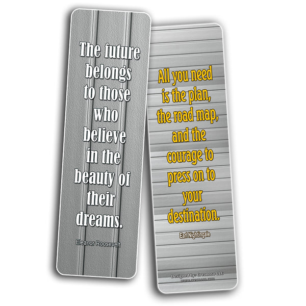 Motivational Quotes to Help You Achieve Your Dreams Bookmarks