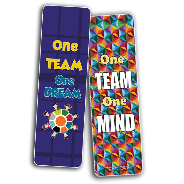 Creanoso Inspiring Teamwork Bookmarks for Kids (60-Pack) – Premium Gift Set – Awesome Bookmarks for Boys, Girls, Children – Six Bulk Assorted Bookmarks Designs – School Classroom Reading Incentives