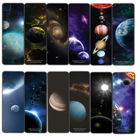Cosmos Outer Space Futuristic Universe Galaxy Bookmarks (30-Pack) – Bulk Pack Set Page Markers