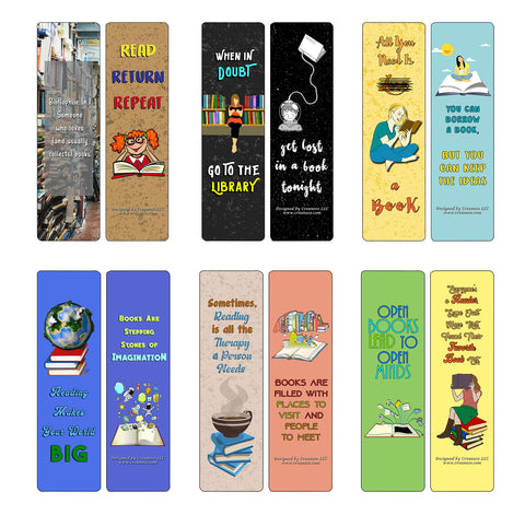 Creanoso Quotes for Book lovers Bookmarks - Awesome Stocking Stuffers Gift Set