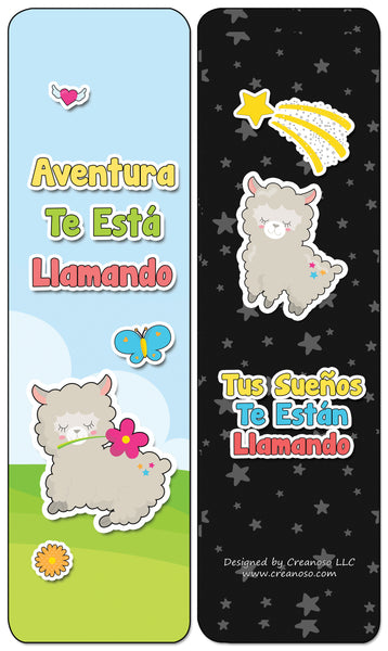 Creanoso Spanish Cute Bookmarks for Books - Inspiring Spanish Book Saying and Quotes