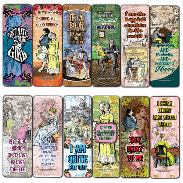 Creanoso Pride and Prejudice Bookmarks Cards – Premium Stocking Stuffers Gifts for Bookworms