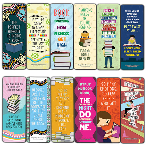 Reading Bookmarks for Books (60-Pack)