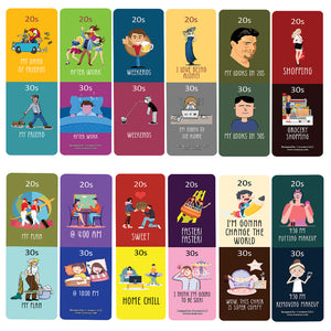 Funny Illustration 20s vs 30s Bookmark Card (30 Pack) - Great Reading Rewards Incentives for Book Lovers & Literature Gifts for Young Readers