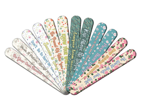 Floral Emery Boards (12-Packs)