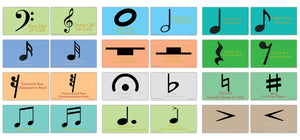 Creanoso Amazing Music Symbols Learning Cards – Mini Educational Cards Set