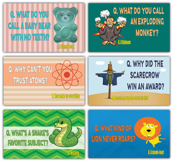 Creanoso Silly and Hilarious Lunch Box Jokes Flashcards - (60-Pack - 30 cards x 2 sets) – Hilarious and Funny Note Cards for Children– Silly Jokes Cards – School Rewards – Gift Token Giveaway for Kids