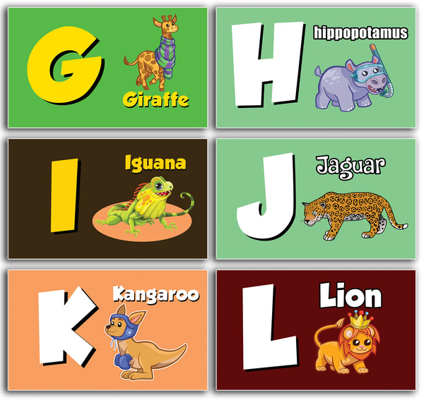 Animals Alphabet Flash Cards for Children