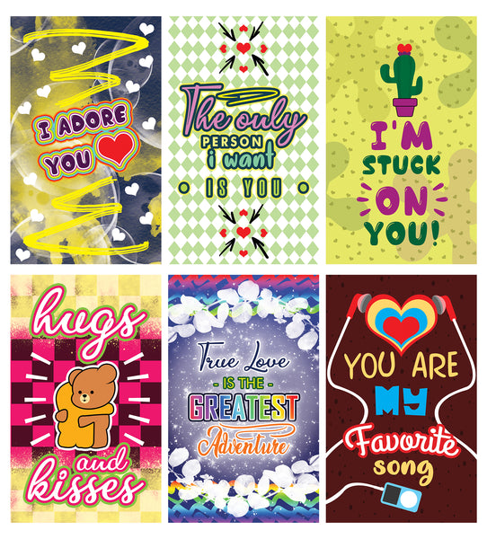 Creanoso Romantic Inspirational Lunch Box Love Notes Series 2 - Unique Educational Gift Tokens for Kids