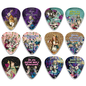 Alice In Wonderland Guitar Picks - Fingerstyle guitar picks - Best Stocking Stuffer Gifts for Kids