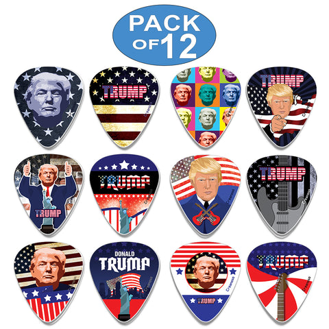 Creanoso Trump President Collectors Guitar Picks (12-Pack) - Unique Stocking Stuffers Gifts