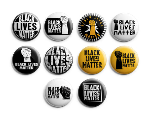"Black Lives Matter Pinback Buttons (10-Pack) - Large 2.25"" Unique Badge Pins for Men Women Teens Employees Professionals - Cool Fashion Accessories"