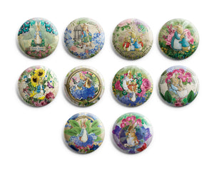 "Peter Rabbit Pinback Buttons (10-Pack) - Large 2.25"" Pins Badge for Men Women"